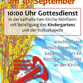 Erntedankfest in Mörlheim